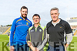 Kenmare management team Padraig Murphy, John Rice and John Galvin at Fitzgerald Stadium on Sunday.
