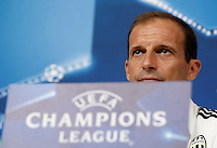 Calcio, Champions League: Juventus vs Siviglia, conferenza stampa Juventus. Torino, Juventus Stadium, 13 settembre 2016.<br /> Juventus coach Massimiliano Allegri attends a press conference ahead of the Group H Champions League football match against Sevilla, at the Juventus stadium, 13 September 2016.<br /> UPDATE IMAGES PRESS/Isabella Bonotto