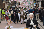 Charles Dickens Festival. Rochester Kent UK. Parade through town.A Christmas Take. 2012.