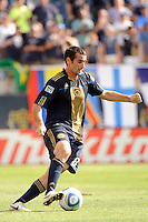 Andrew Jacobson (8) of the Philadelphia Union. The Philadelphia Union and the Kansas City Wizards played to a 1-1 tie during a Major League Soccer (MLS) match at PPL Park in Chester, PA, on September 04, 2010.