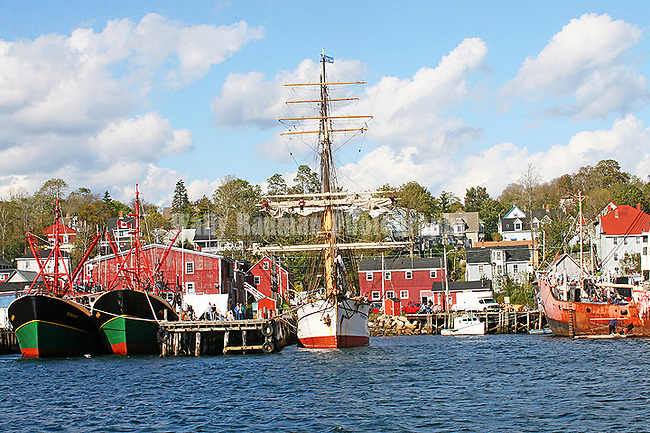 Town of Lunenburg. Images of The Canadian Maritime Provinces of Nova Scotia and Prince Edward Island.