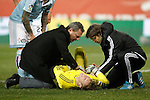 Celta de Vigo's Ruben Blanco injured during Spanish Kings Cup match. January 27,2016. (ALTERPHOTOS/Acero)