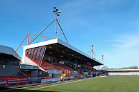 General view of the ground ahead of Brighton & Hove Albion Women vs Manchester United Women, SSE Women's FA Cup Football at Broadfield Stadium on 3rd February 2019