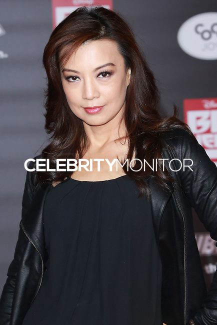 HOLLYWOOD, LOS ANGELES, CA, USA - NOVEMBER 04: Ming-Na Wen arrives at the Los Angeles Premiere Of Disney's 'Big Hero 6' held at the El Capitan Theatre on November 4, 2014 in Hollywood, Los Angeles, California, United States. (Photo by David Acosta/Celebrity Monitor)