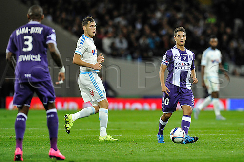 23.09.2015. Toulouse, France. French League 1 football. Toulouse versus Marseille.  Wissam BEN YEDDER (tfc)
