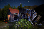 Collapsed shack at the ghost town of Ironton, Colorado, 2010