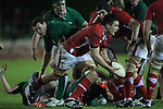 Wales number 8 Ellis Jenkins picks the ball up from the back of the ruck..Under 20 Six Nations.Wales v Ireland.Eirias - Colwyn Bay.01.02.13.©Steve Pope