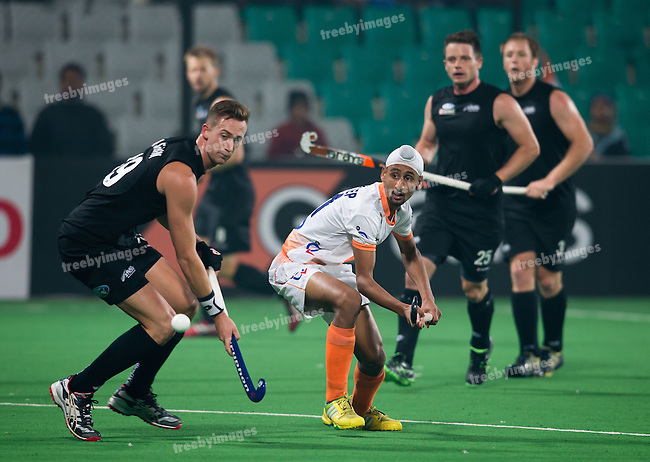 Mens Hockey World league Final Delhi 2014<br /> Day 2 India v New Zealand11-01-2014<br /> Mandeep Singh<br /> <br /> Photo: Grant Treeby / treebyimages