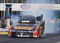 May 15, 2015; Commerce, GA, USA; NHRA funny car driver Tony Pedregon during qualifying for the Southern Nationals at Atlanta Dragway. Mandatory Credit: Mark J. Rebilas-USA TODAY Sports