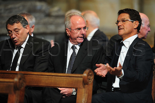 21.09.2009 Durham Cathedral, Durham, England. Graham Taylor (left), Sven Goran Eriksson (centre) and Fabio Capello during the Sir Bobby Robson Thanksgiving Service at Durham Cathedral