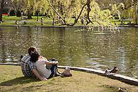 Public Garden spring, Boston, MA