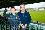 l-r  Conor Galvin and Cliff Galvin from Castlegregory at Kerry's win over Carlow at Austin Stack's park on Sunday