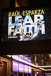 Theatre Marquee for the Broadway Opening Night Curtain Call for the 'Leap Of Faith' at the St. James Theatre on 4/26/2012 in New York City.