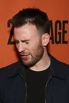 Chris Evans backstage at  the Second Stage Theater Broadway lights up the Hayes Theatre at the Hayes Theartre on February 5, 2018 in New York City.