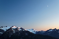 Mount Olympus and Mount Tom, Olympic Mountains, Olympic National Park, Washington