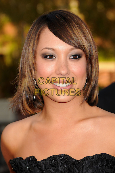CHERYL BURKE .JCPenney Asian Excellence Awards 2008 at UCLA's Royce Hall, Westwood, California, USA..April 23rd, 2008.headshot portrait black strapless .CAP/ADM/BP.©Byron Purvis/AdMedia/Capital Pictures.