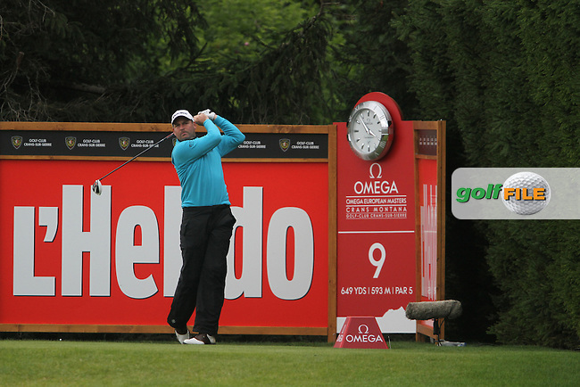 David Howell (ENG) on the 9th on Day 3 of the Omega European Masters 2012, Golf Club Crans-Sur-Sierre, Crans Montana, Switzerland, 01/09/12...(Photo Jenny Matthews/www.golffile.ie)