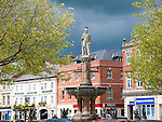 Statue of Thomas Sotheron Estcourt in the Market Place, Devizes, Wiltshire, England