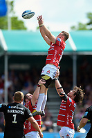 Ruan Ackermann of Gloucester Rugby wins the ball at a lineout. Gallagher Premiership Semi Final, between Saracens and Gloucester Rugby on May 25, 2019 at Allianz Park in London, England. Photo by: Patrick Khachfe / JMP