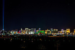 """America's Party: Las Vegas New Year's Eve 2016. This year's spectacular fireworks show theme """"On Top of The World""""  frorm On Top of the New Konami corporate office on Sunset"""