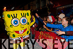 Spongebob meets Sean O'Sullivan Killarney at the Christmas in Killarney parade on Friday night