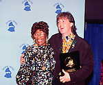 Paul McCartney 1990 wlth Ella Fitzgerald at Grammy Awards. He was presented Lifetime Achievement Award..