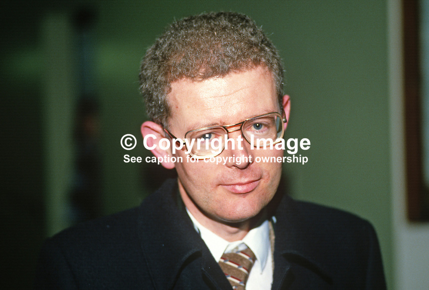 Billy Hawkes, senior official, Dept of Foreign Affairs, Rep of Ireland, 19880301BW..Copyright Image from Victor Patterson, 54 Dorchester Park, Belfast, UK, BT9 6RJ..Tel: +44 28 9066 1296.Mob: +44 7802 353836.Voicemail +44 20 8816 7153.Skype: victorpattersonbelfast.Email: victorpatterson@me.com.Email: victorpatterson@ireland.com (back-up)..IMPORTANT: If you wish to use this image or any other of my images please go to www.victorpatterson.com and click on the Terms & Conditions. Then contact me by email or phone with the reference number(s) of the image(s) concerned.