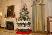 """The 2016 White House Christmas decorations are previewed for the press at the White House in Washington, DC on Tuesday, November 29, 2016. Pictured are some of the 56 Lego gingerbread house, one for each state and territory in the State Dining Room.  The first lady's office released the following statement to describe those decorations, """"This year's holiday theme, 'The Gift of the Holidays,' reflects on not only the joy of giving and receiving, but also the true gifts of life, such as service, friends and family, education, and good health, as we celebrate the holiday season.""""<br /> Credit: Ron Sachs / CNP"""