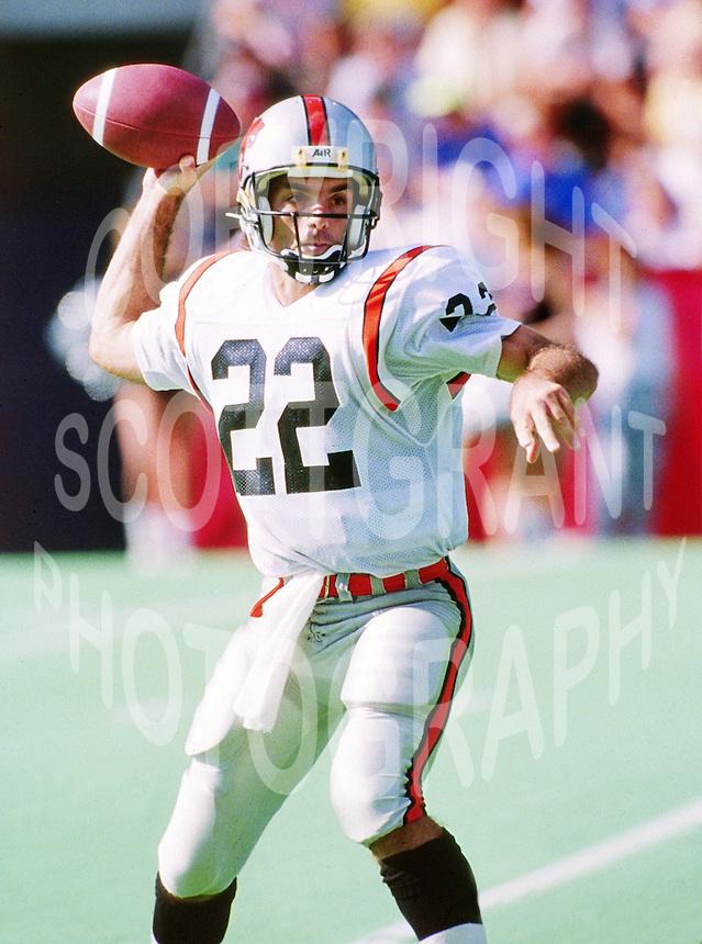 Doug Flutie BC Lions quarterback. Copyright photograph Scott Grant/
