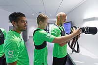 Pictured: (L-R) Kyle Naughton, George Byers and Mike van der Hoorn of Swansea City during the Swansea City FC training session at the Fairwood training ground in Swansea, Wales, UK Saturday 29 June 2019Saturday 29 June 2019<br /> Re: Swansea City FC training, Fairwood, near Swansea, Wales, UK