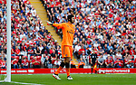 Arsenal's Petr Cech in action during the premier league match at Anfield Stadium, Liverpool. Picture date 27th August 2017. Picture credit should read: Paul Thomas/Sportimage