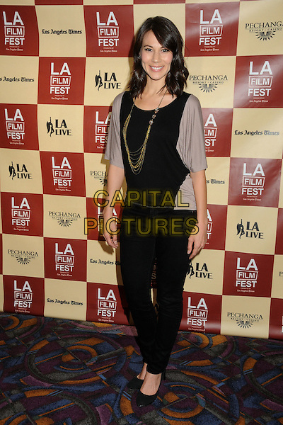 "Catherine Kresge.2011 Los Angeles Film Festival Premiere of ""The Guard"" held at Regal Cinemas L.A. Live, Los Angeles, California, USA, 22nd June 2011..full length  jeans shoes grey gray cardigan black necklace .CAP/ADM/BP.©Byron Purvis/AdMedia/Capital Pictures."