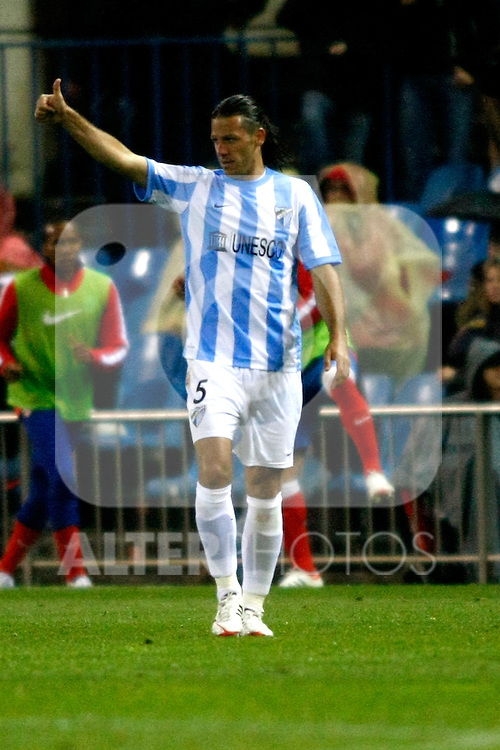 Malaga's Martin Demichelis during La Liga match, 2012/May/05..(ALTERPHOTOS/ARNEDO & ALCONADA)
