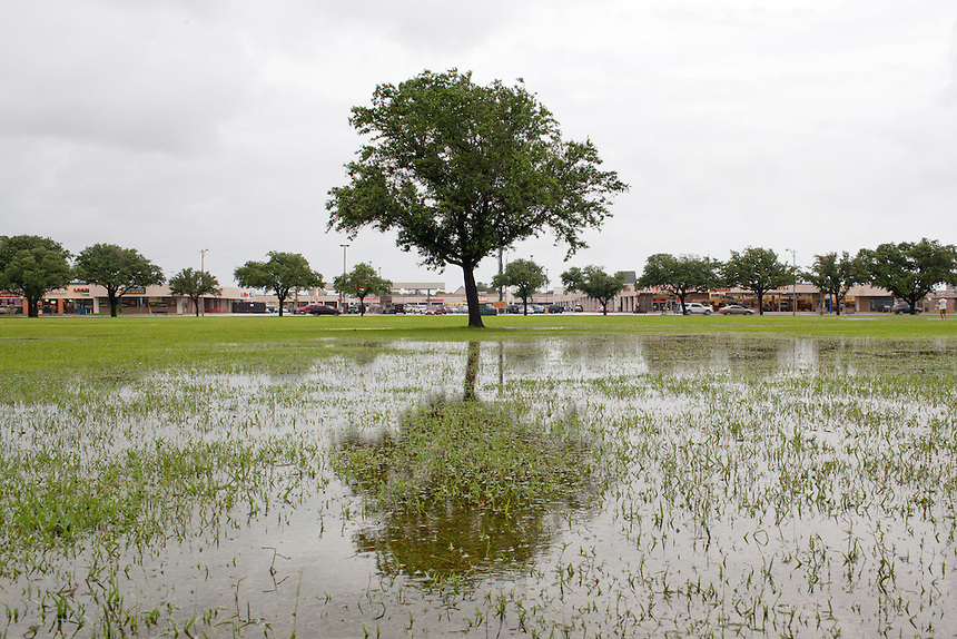 Nessler Park in Texas City, Texas after heavy rains. Texas City is home to a massive BP refinery.