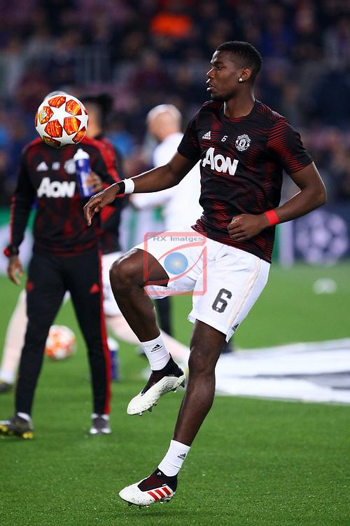 UEFA Champions League 2018/2019.<br /> Quarter-finals 2nd leg.<br /> FC Barcelona vs Manchester United: 3-0.<br /> Paul Pogba.