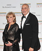 Washington, DC - December 5, 2009 -- Barbara Walters and Frank Langella arrive for the formal Artist's Dinner at the United States Department of State in Washington, D.C. on Saturday, December 5, 2009..Credit: Ron Sachs / CNP.(RESTRICTION: NO New York or New Jersey Newspapers or newspapers within a 75 mile radius of New York City)