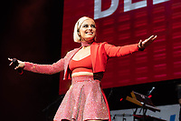 SAN JOSE, CA - DECEMBER 1: Bebe Rexha performs onstage at The SAP Center during the 99.7 Now POPTOPIA in San Jose, California. <br /> CAP/MPI/IS/CT<br /> &copy;CT/IS/MPI/Capital Pictures