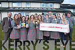 The Intermediate School  Killorglin (ISK) was named as the best school the Kerry County Enterprise Awards.  Front L-R Amy Murphy, Cathriona Walsh, Leanne Pierce, Iona McBirney, Aoife Broderick, Triona Brennan and teacher Orla Courtney. .Back L-R Bébhinn Woods, Ciara Kennedy, Mary Claire Teahan, Niall O'Connor, Rob Shaw, Zoe Hyde and Darragh Carmody.