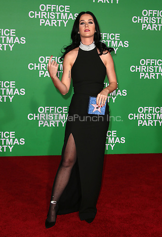 """Westwood, CA - DECEMBER 07: Katy Perry, At Premiere Of Paramount Pictures' """"Office Christmas Party"""" At Regency Village Theatre, California on December 07, 2016. Credit: Faye Sadou/MediaPunch"""