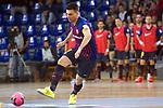 League LNFS 2018/2019 - Game 29.<br /> FC Barcelona Lassa vs Vi&ntilde;a Albali Valdepe&ntilde;as: 5-1.<br /> Sergio Lozano.
