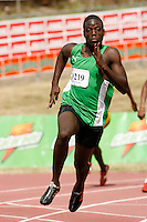 World Junior Champion Ramone McKenzie of Calabar won the Boys Class 1 200m  dash with a time of 21.93sec. at the Douglas Forrest Invitational Meet at Stadium East in Kingston,Jamaica on Saturday, January 12, 2007. Photo by Errol Anderson,The Sporting Image..