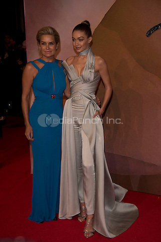 Yolanda Hadid, Gigi Hadid<br /> The Fashion Awards 2016 , arrivals at the Royal Albert Hall, London, England on December 05 2016.<br /> CAP/PL<br /> ©Phil Loftus/Capital Pictures /MediaPunch ***NORTH AND SOUTH AMERICAS ONLY***