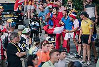 """Jack Bauer (NZL/Mitchelton-Scott) coming through """"Dutch Corner"""" (#7) on Alpe d'Huez<br /> <br /> Stage 12: Bourg-Saint-Maurice / Les Arcs > Alpe d'Huez (175km)<br /> <br /> 105th Tour de France 2018<br /> ©kramon"""