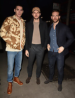Isaac Carew, Jim Chapman and Craig McGinlay at the LFW (Men's) a/w2018 Oliver Spencer catwalk show, BFC Show Space, The Store Studios, The Strand, London, England, UK, on Saturday 06 January 2018.<br /> CAP/CAN<br /> &copy;CAN/Capital Pictures
