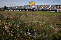 View of the grandstand on the 18th during Round One of the 145th Open Championship, played at Royal Troon Golf Club, Troon, Scotland. 14/07/2016. Picture: David Lloyd | Golffile.<br /> <br /> All photos usage must carry mandatory copyright credit (&copy; Golffile | David Lloyd)
