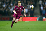 Kevin De Bruyne of Manchester City during the premier league match at the Wembley Stadium, London. Picture date 14th April 2018. Picture credit should read: Robin Parker/Sportimage