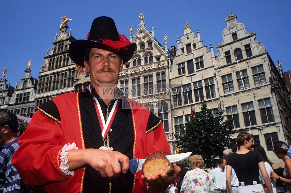 Europe/Belgique/Flandre/Province d'Anvers/Anvers : Marché Rubens - Paul de Van Veygnert charcutier, et ses pâtés de viande [Non destiné à un usage publicitaire - Not intended for an advertising use]