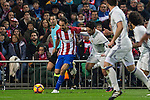 Atletico de Madrid's Juanfran Torres Real Madrid's Isco Alarcon during the match of La Liga between Atletico de Madrid and Real Madrid at Vicente Calderon Stadium  in Madrid , Spain. November 19, 2016. (ALTERPHOTOS/Rodrigo Jimenez)