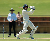 November 4th 2017, WACA Ground, Perth Australia; International cricket tour, Western Australia versus England, day 1; Englands James Vice plays a cut shot forward of point during his innings