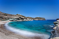 The impressive Gides beach in Andros island, Greece